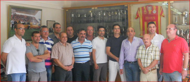 Birkirkara FC committee with Mr. Paul Zammit